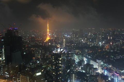 リッツカールトン東京クラブフロアからの眺め