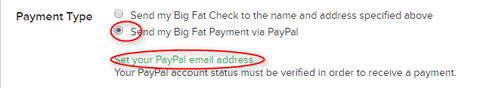 PayPal支払設定