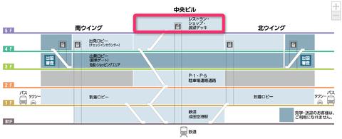 成田空港第1ターミナルフロアマップ