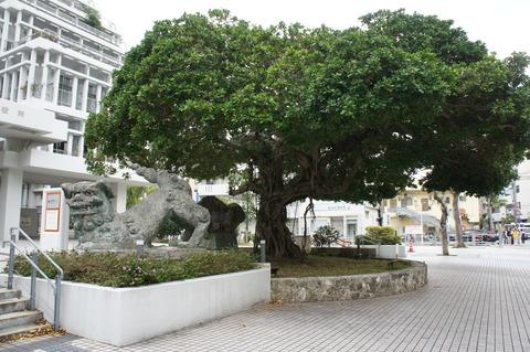 沖縄のシーサーとガジュマル