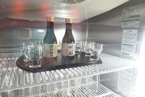 成田空港第2ターミナル、カンタス航空・ビジネスクラスラウンジの日本酒