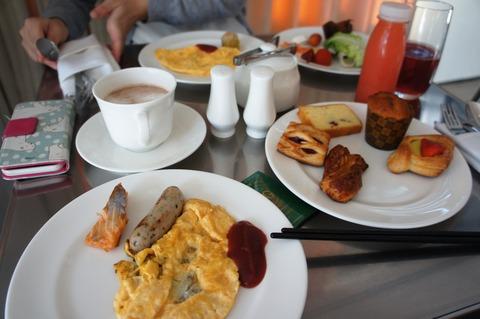 JWマリオットラウンジの朝食
