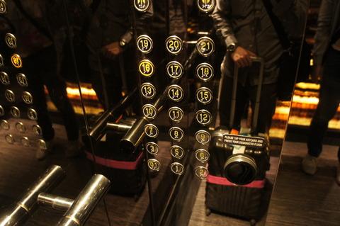 シェラトンタワーズシンガポールエレベーター内