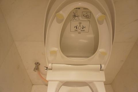 ラウンジのトイレのウォシュレット