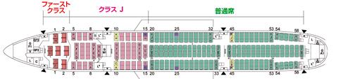 JALボーイング777-200ファーストクラス座席表